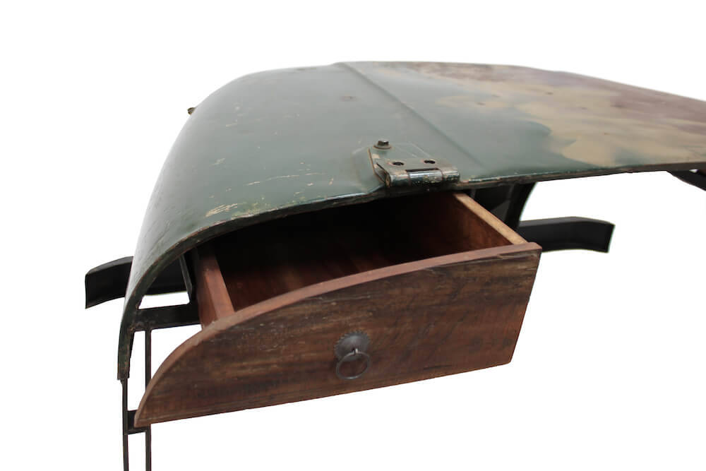 Upcycled car furniture Jeep desk