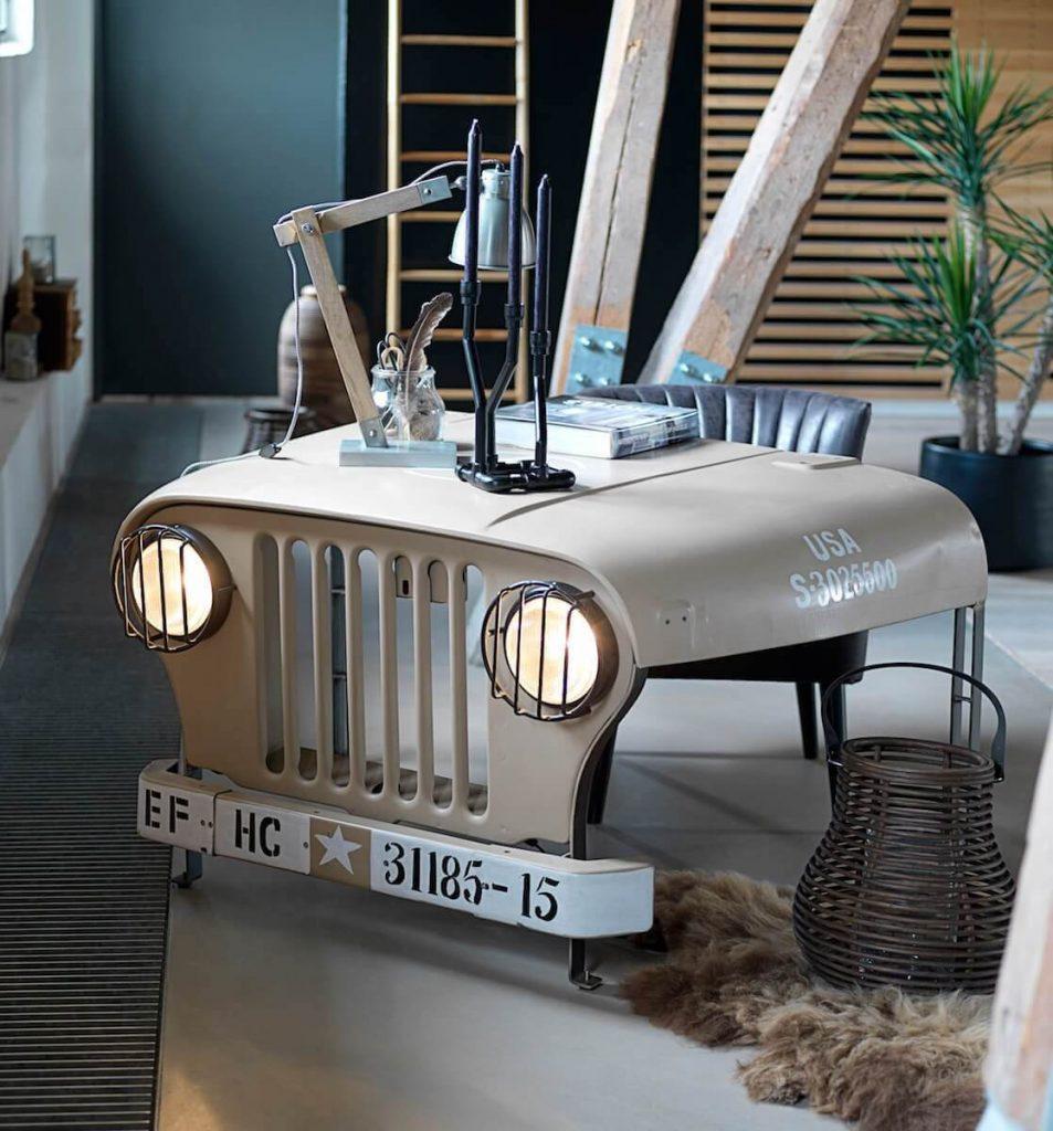 Exceptionnel Vintage Office Desk Willys Jeep Desk