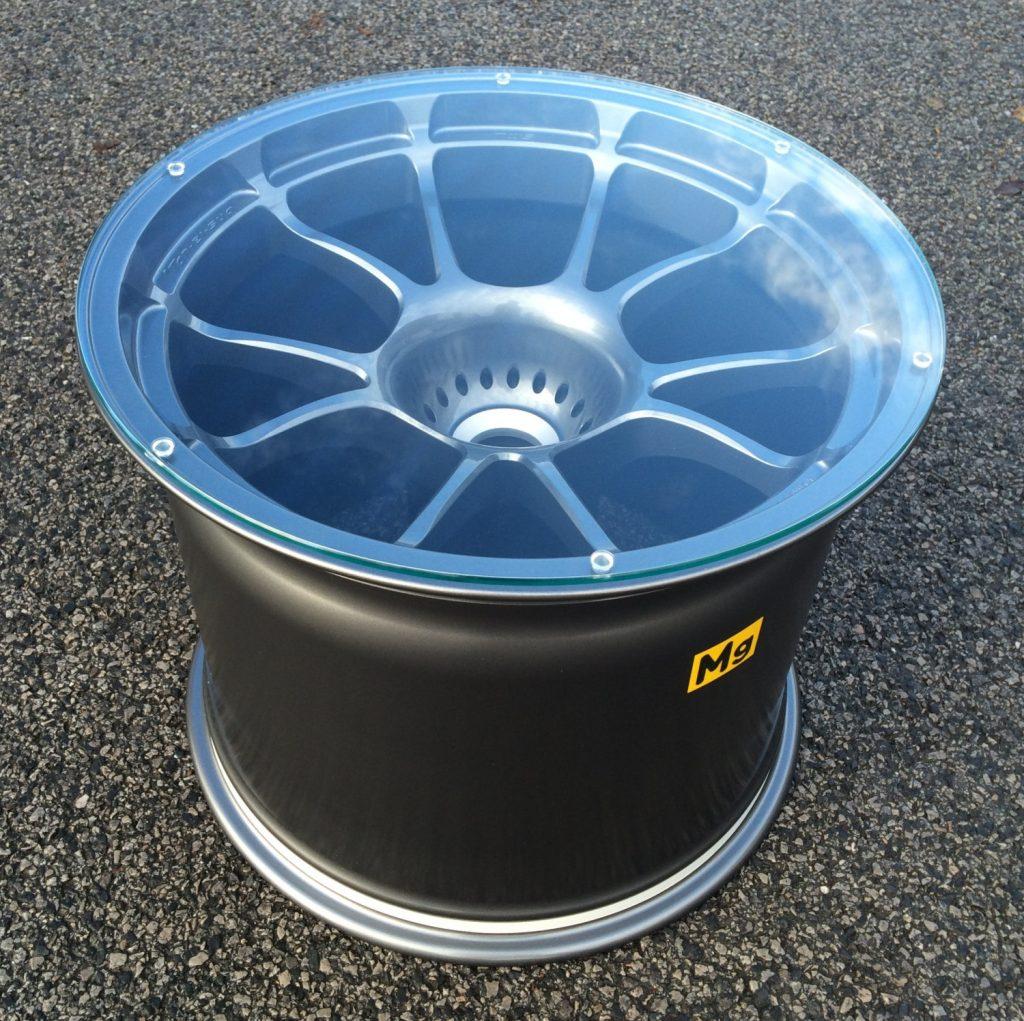 Aston Martin Le Mans Race Car Wheel Table