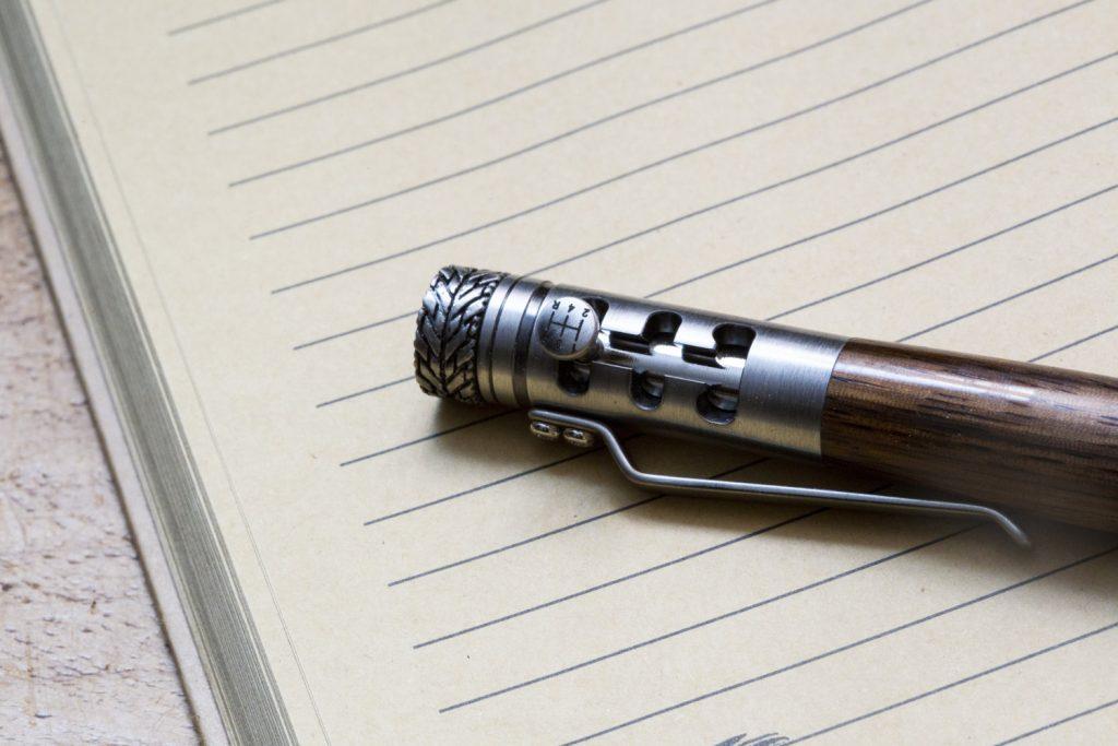 Gear stick pen