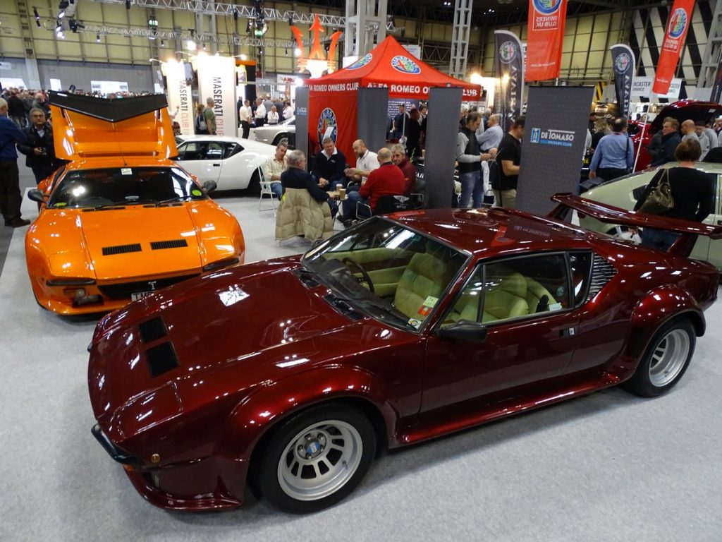 De Tomaso Club Stand at the NEC Classic Car Show
