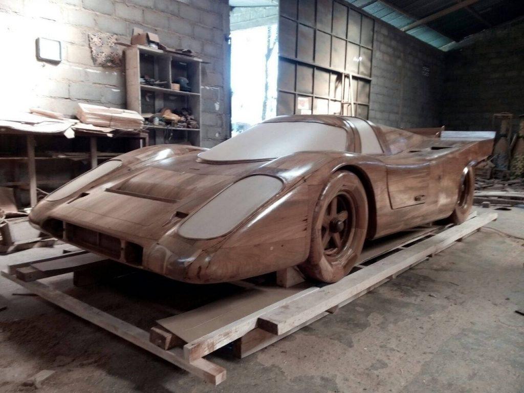 Real size Wooden Porsche 917