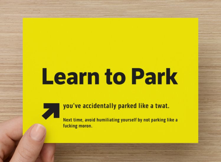 Bad Parking Leaflet