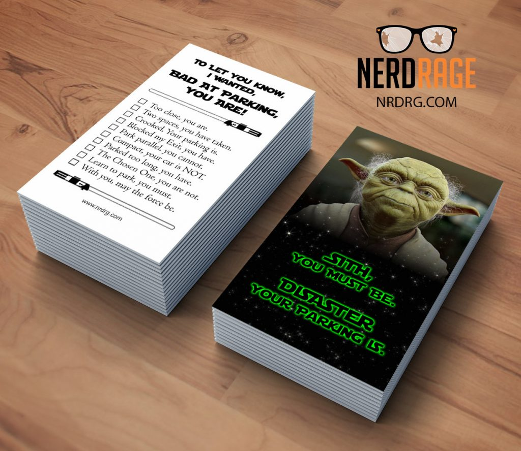 Bad Parking Yoda Cards