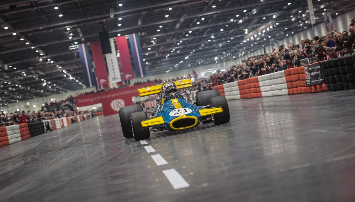 F Cars On The Grand Avenue At The London Classic Car Show - London classic car show 2018