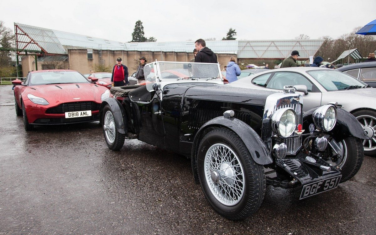 1934 Aston Martin MkII and 2018 Aston Martin DB11