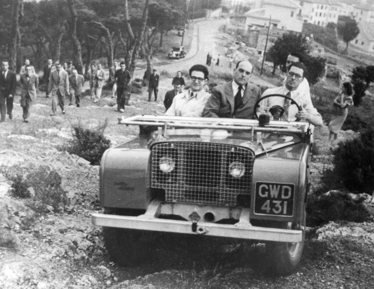 The Land Rover 1948 prototype L03 in action through the decades