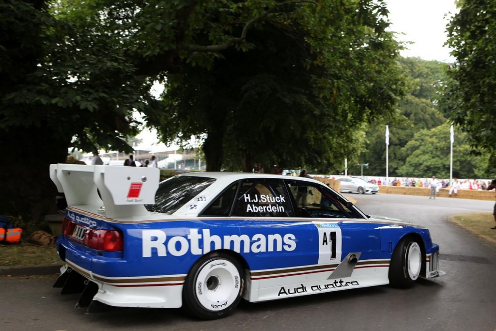 Chistopher Aberdein driving Audi S4 GTO - Goodwood Festival of Speed 2018