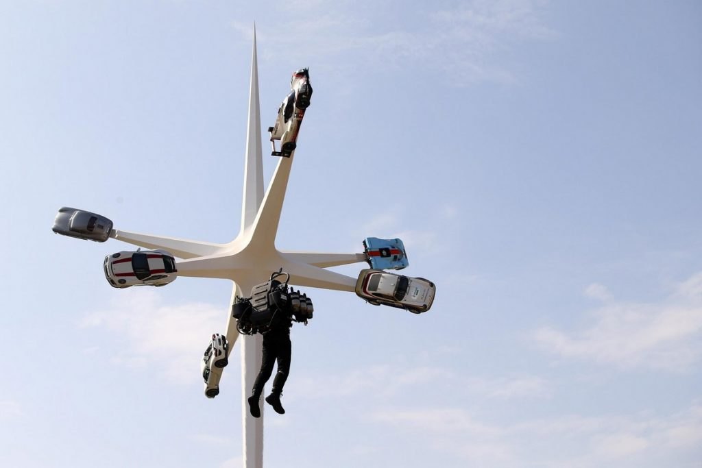 Jet Pack and sculpture at the Goodwood Festival of Speed 2018