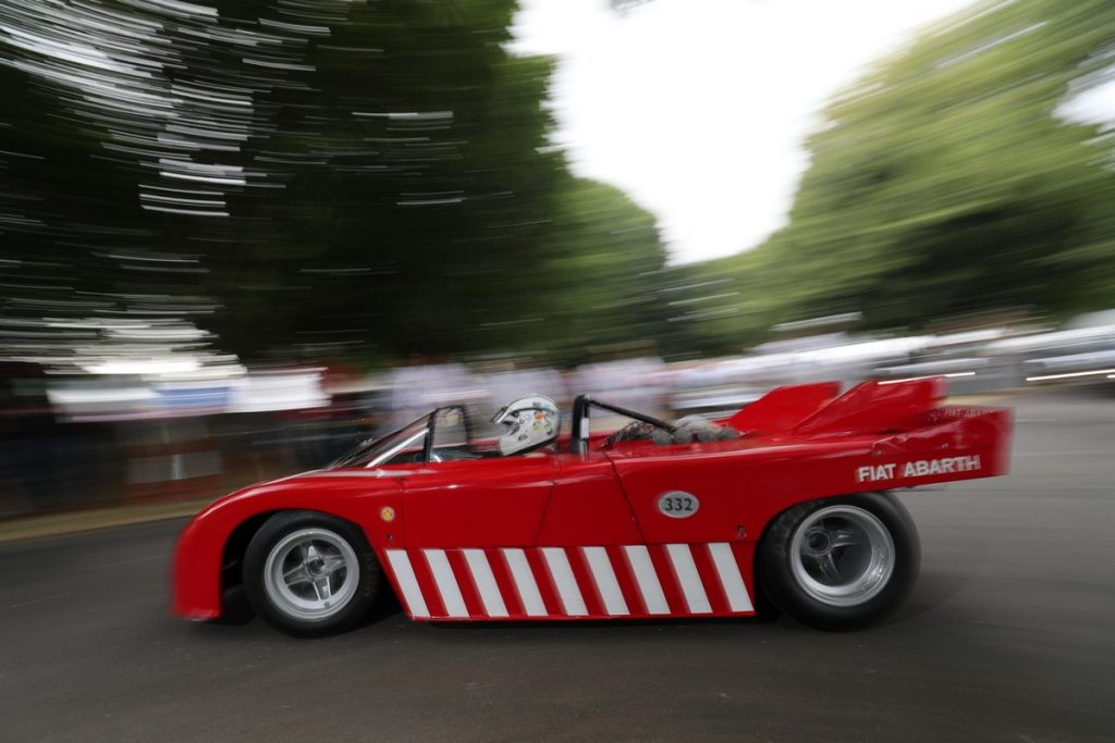Rob Hall & Andrew Willis driving Abarth 3000 V8 Prototype Vergaser - Goodwood Festival of Speed 2018