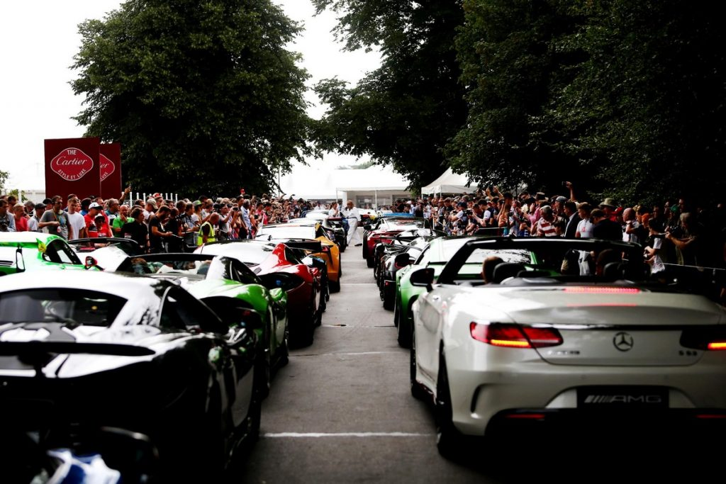 Supercar Assembly Area at the Good wood Festival of Speed 2018
