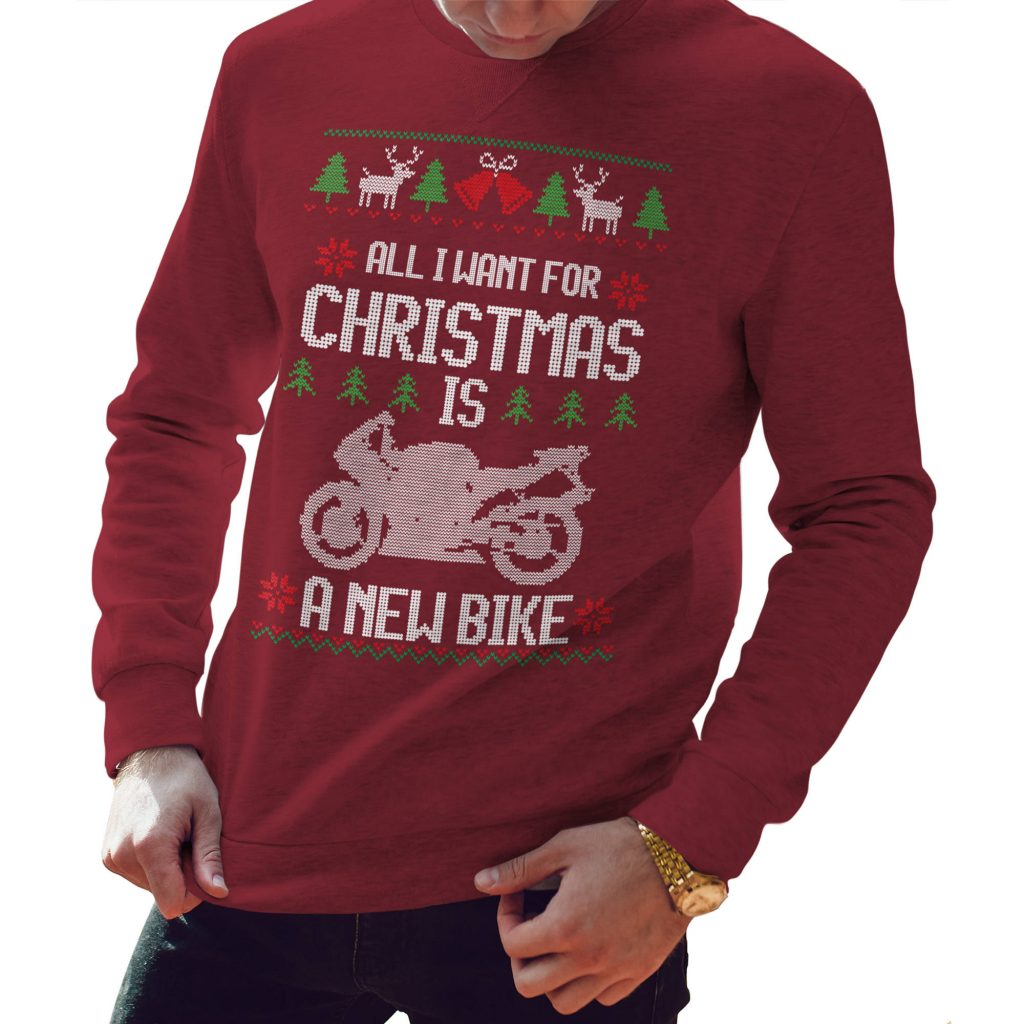 All I Want For Christmas is a new bike christmas jumper