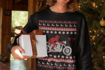 Cafe Racer Ugly Christmas Sweater